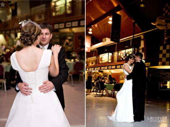 Sweet and lovely Portland Wedding::Vancouver Air Museum Reception