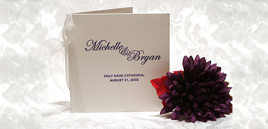 Wedding Programs that double as Favors