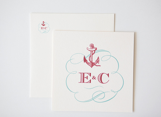 Nautical Do It Yourself Custom Wedding Monogram
