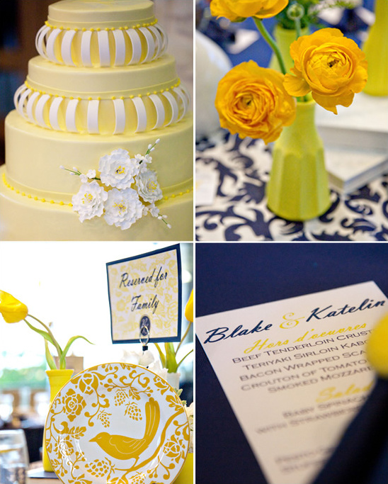 Yellow & Blue Texas Wedding