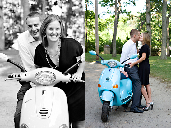 A Vespa for a Spring Lake Engagement