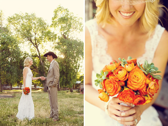 Ranch Style Wedding Overflowing With Glamour