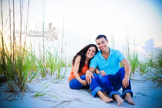 a 'love'ly coconut   pensacola engagement photography