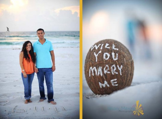 a 'love'ly coconut | pensacola engagement photography