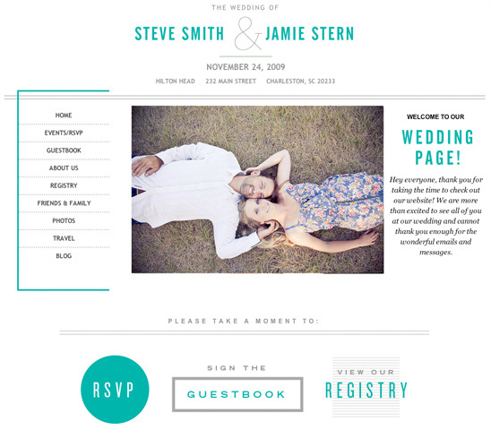 Custom Wedding Websites From Wedding JoJo