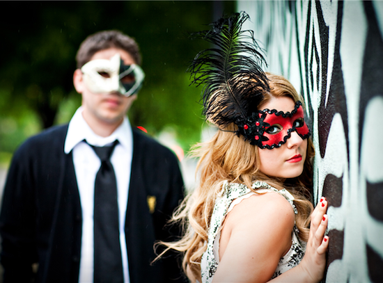 Masquerade Engagement Session