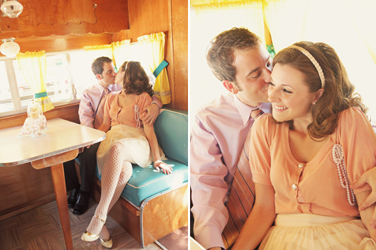Vintage Airstream Engagement Shoot