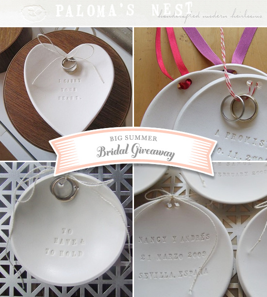 Big Summer Bridal Giveaway - Paloma's Nest