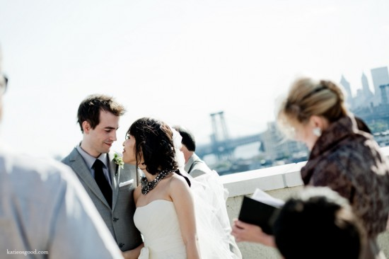 Intimate Rooftop Wedding - Katie Osgood Photography