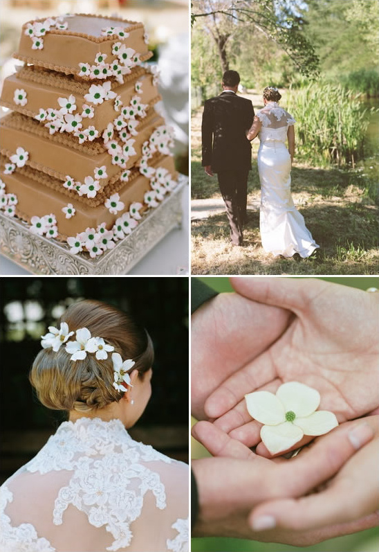 Peach and Pink Dogwood Wedding From Project Wedding