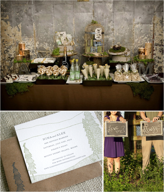 Rustic Wedding Inspiration | Details from Real Weddings