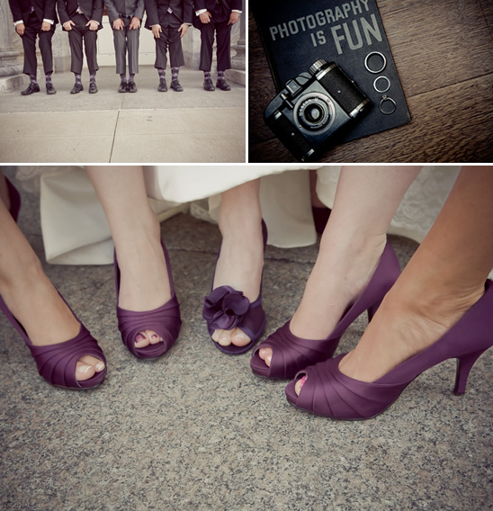 Elegant Deep Plum Michigan Wedding