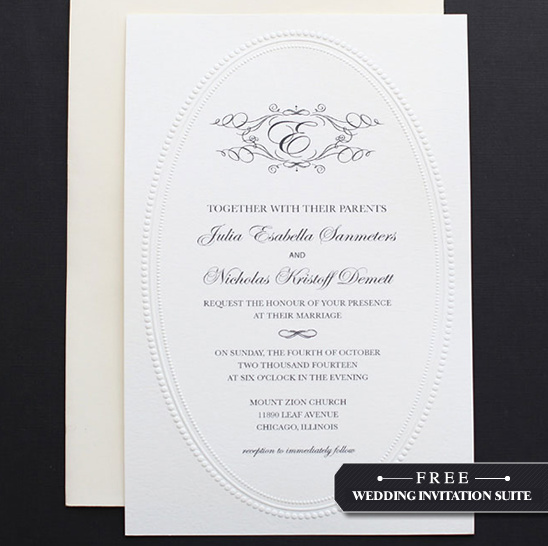 Monogram Do It Yourself Wedding Invitation