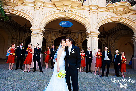 San Diego Wedding Photographers, Theorie, San Diego, Balboa Park, Bride and Groom, Stylized Portrait, Artsy, Modern, Prado, Real Wedding, Vintage, Bridesmaids, Groomsmen