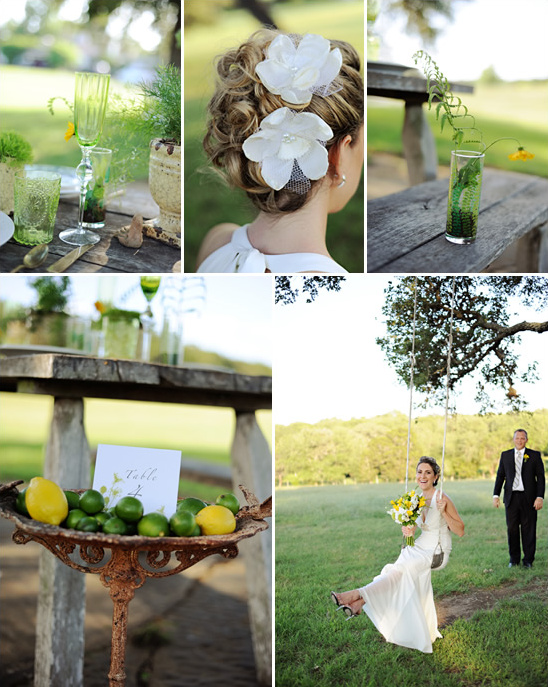 Fresh Green & Yellow Wedding Ideas