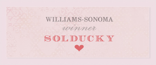 Williams Sonoma Gift Card Winner