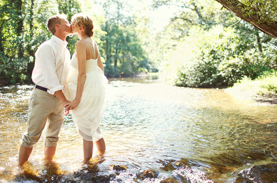Wedding By The River In New Jersey