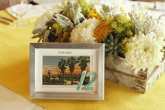 Crafty Yellow & Teal Long Beach Wedding