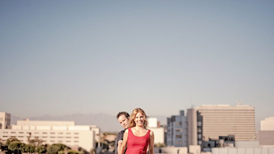 Los Angeles roof top engagement pictures
