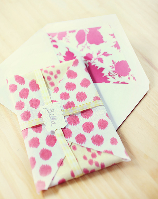 Do It Yourself Pretty Patterned Fabric Envelopes