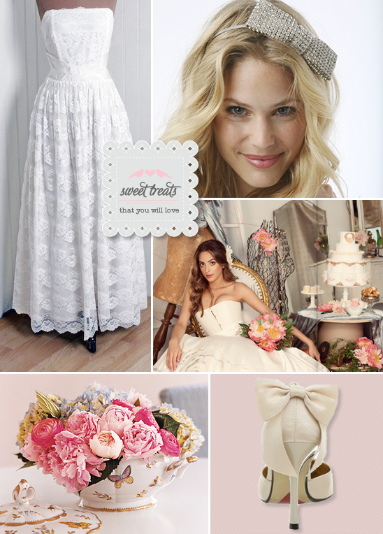 Sweet Treats + Vintage Wedding Gowns
