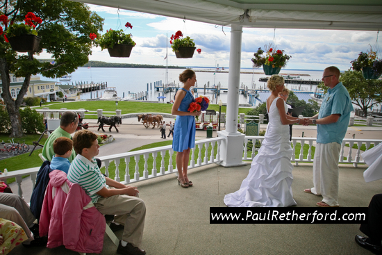 Mackinac Island Wedding | Island House Hotel Porch
