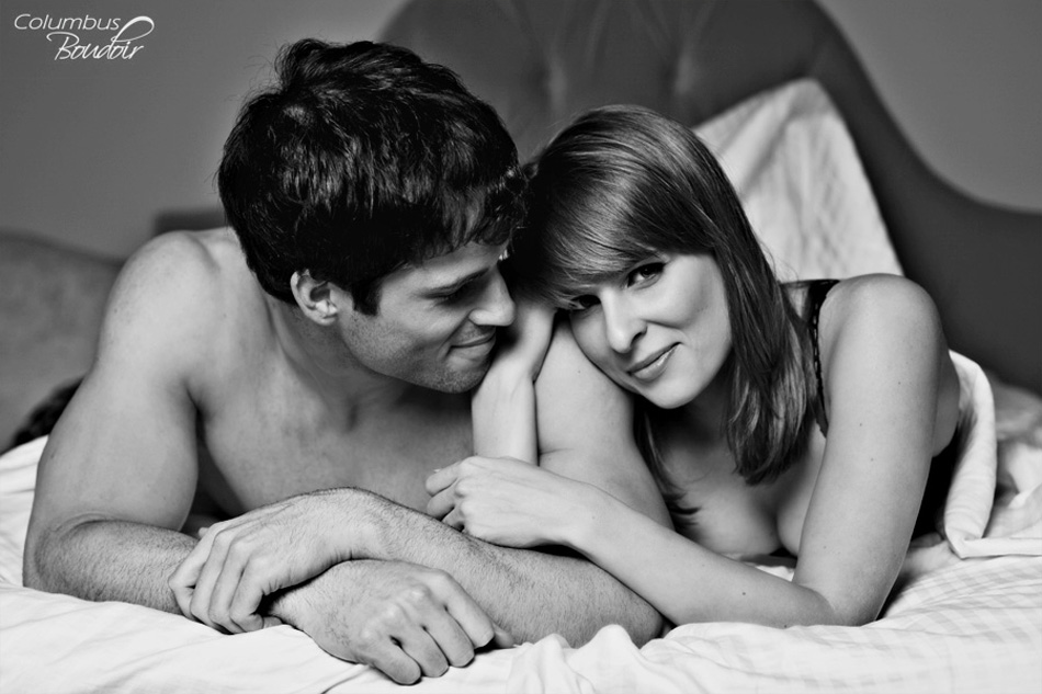 Couples intimate boudoir by Columbus Boudoir
