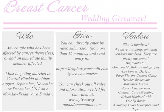 Wedding Giveaway for a Central Florida Wedding!