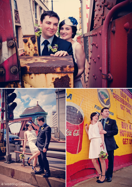 Creative Chicago Couple's Retro 1940s Inspired Wedding