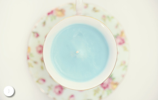 Do It Yourself Teacup Candles