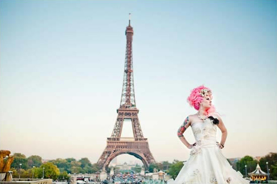 Rock N' Roll Bride As Marie Antoinette