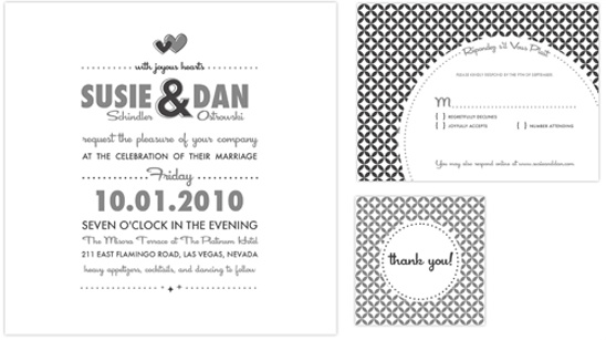 Retro Do It Yourself Wedding Invitations