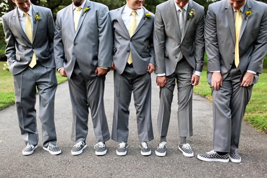 Yellow and Gray New York Wedding