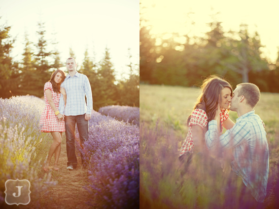 Lavender Farm Engagement Session