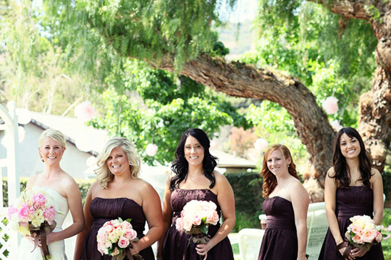 Pink And Chocolate Brown Wedding Ideas