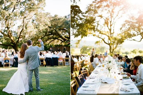 Reception at Beltane Ranch wedding