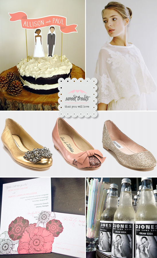 Sweet Treats + Wedding Ballet Flats