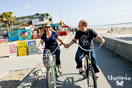 San Diego Wedding Photographers, San Diego, Theorie, Engagement Session, Modern, Artsy, Beach, Bicycle, Ice Cream,