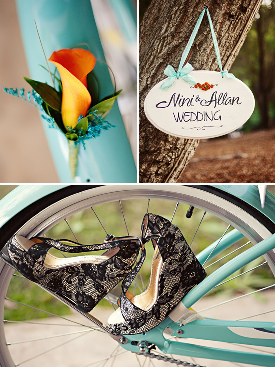 Temecula Orange and Teal Wedding Ideas