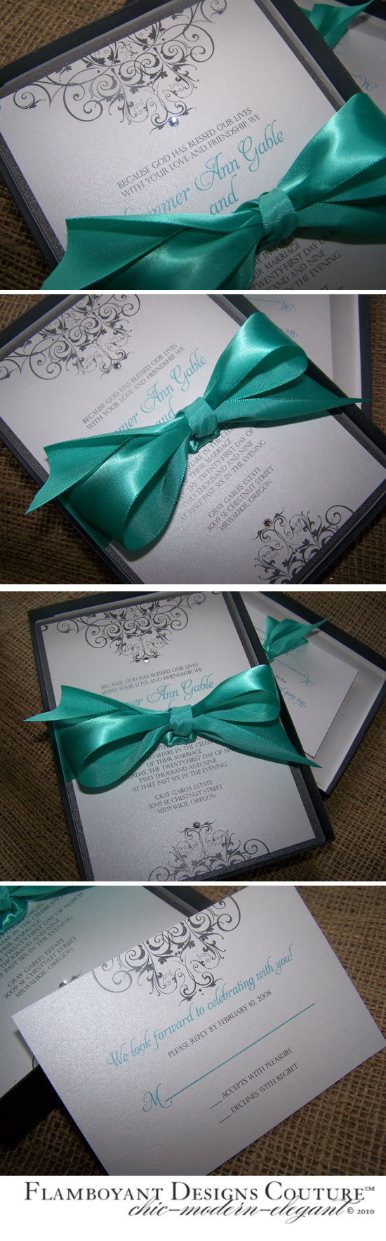 Gable: Elegant Boxed Wedding Invitation
