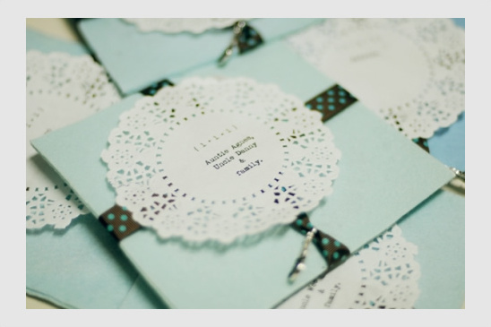 DIY Retro Wedding Invites