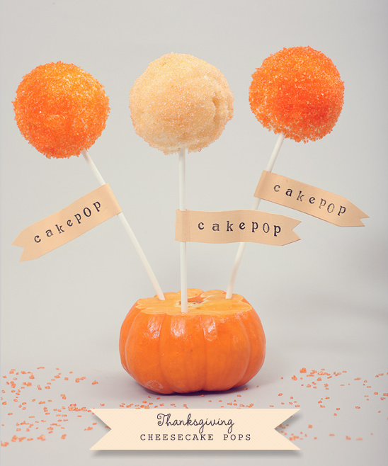 Do It Yourself Easy Thanksgiving Cheesecake Pops