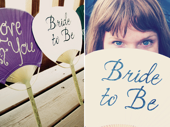 New Fun Accessory For Brides: Painted Fans!