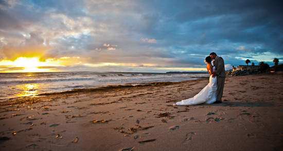 Stormy San Clemente Beach Wedding!