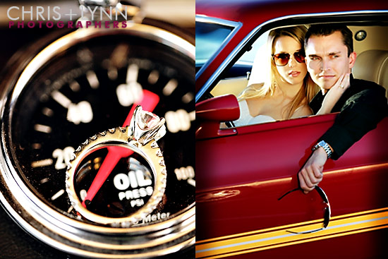 Jessica+Richard=Classic | Vintage Car Engagement Session