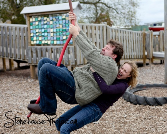 zip line engagement session