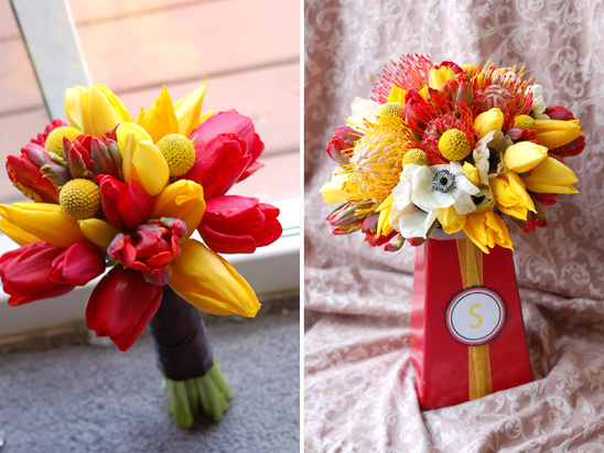 A Red + Yellow Textural Mix from Kio Kreations