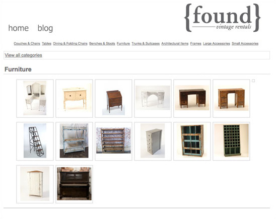 New Online Gallery & $500 Giveaway from Found Vintage Rentals