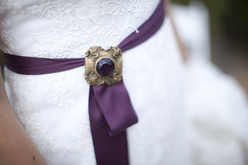 Elegant Deep Purple Wedding From Events by Heather Ham