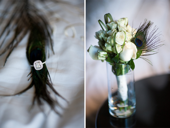 Peacock accent in wedding